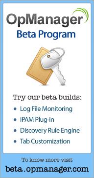 OpManager Beta Program