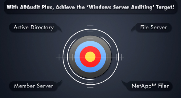 With ADAudit Plus, Achieve the 'Windows Server Auditing' Target!