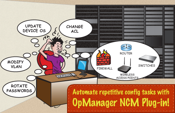 Maximize Operational Efficiency with OpManager NCM Plug-in