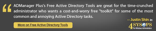 ADManager Plus Tools