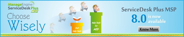 ServiceDesk Plus MSP 8.0 is now available