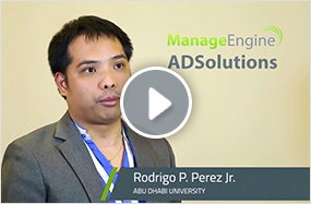 Abu Dhabi University manages desk delegation and AD reporting using ManageEngine ADSolutions