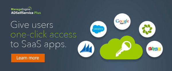 Single sign-on for SaaS apps from ADSelfService Plus