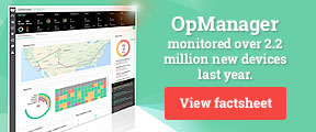 OpManager monitored over 2.2 million new devices last year.