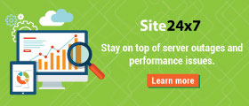 Stay on top of server outages and performance issues.