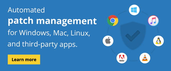 Automated patch management for Windows, Mac, Linux, and third-party apps.
