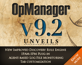 OpManager v9.2 UNVEILS