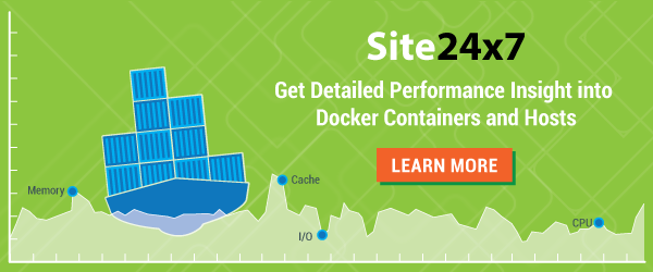 Monitor Docker Containers and Hosts with Site24x7