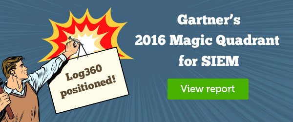 ManageEngine placed in Gartner MQ for SIEM, 2016