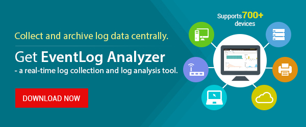 Automate log collection and log analysis with EventLog Analyzer
