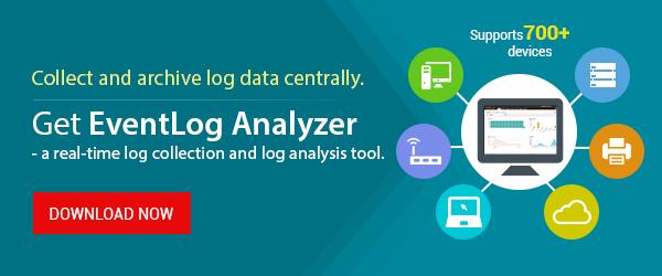 Automate log collection and log analysis with EventLog Analyzer