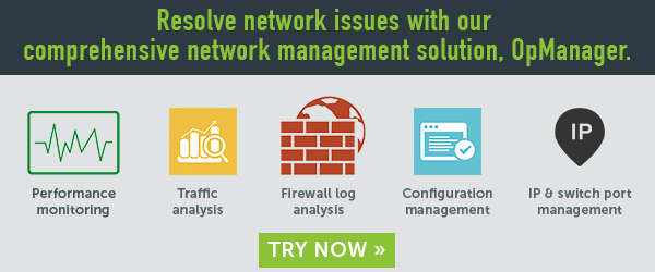 Gain complete visibility of your company network with OpManager