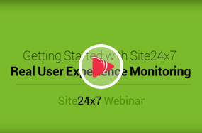 Real user monitoring with Site24x7