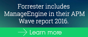 Forrester includes ManageEngine in their APM Wave report 2016.