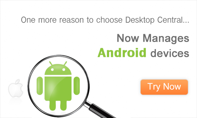 Now Manages Android devices