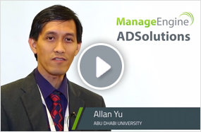 Abu Dhabi University saves time by using bulk addition feature of ManageEngine ADManager Plus