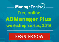 ADManager Plus Online WorkShop Series