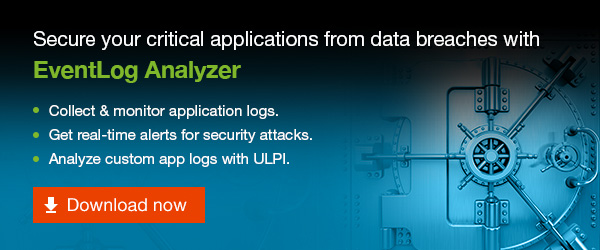 EventLog Analyzer helps you secure critical applications from attacks