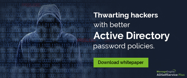 Free whitepaper on Active Directory password policies.