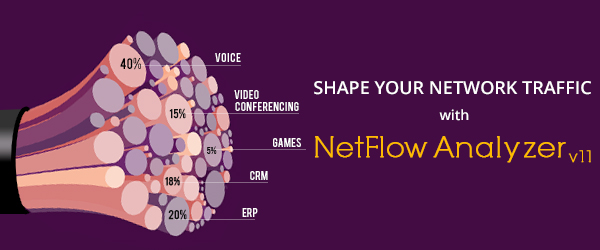 Shape your network traffic with NetFlow Analyzer v11!