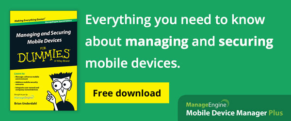 Free ebook for Mobile Device Management.