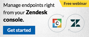Manage endpoints right from your Zendesk console. Get started