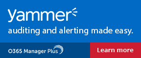 Yammer auditing and alerting made easy. Learn more