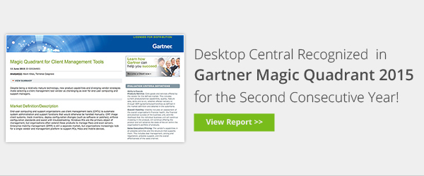 ManageEngine in Gartner Magic Quadrant again