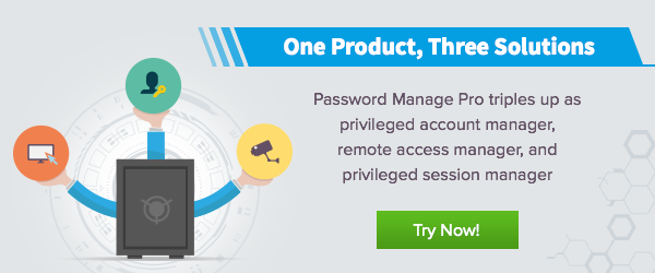 Password Manager Pro 1 product and 3 solutions