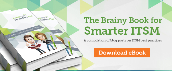 eBook The Brainy Book for Smarter ITSM from ServiceDesk Plus
