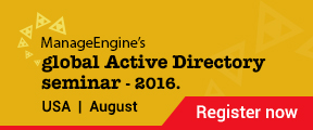 ManageEngine's global Active Directory seminar 2016.