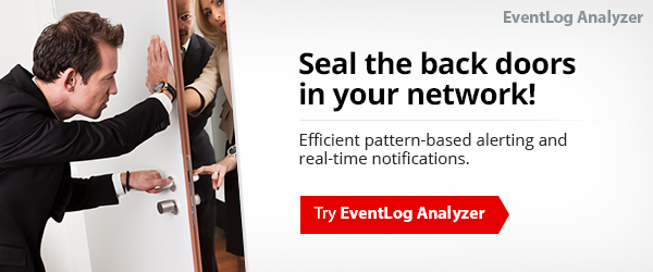 Detect back door account creation with EventLog Analyzer.