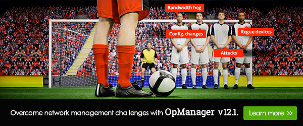 Strike off your network management challenges with OpManager.
