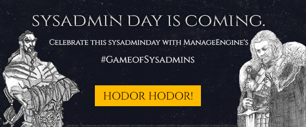 SysAdmin Day giveaways from ManageEngine.