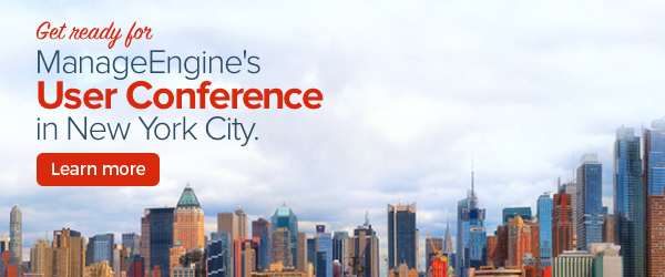ManageEngine's User Conference is coming to the Big Apple.