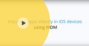 Installing iOS apps silently on devices with ManageEngine MDM