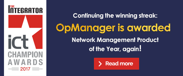 Continuing the winning streak: OpManager is awarded Network Management Product of the Year, again! Read more