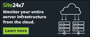 Monitor your entire server infrastructure from the cloud. Learn more.