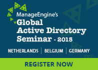 ManageEngine Global Active Directory Seminar 2015