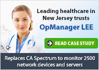 Leading Healthcare in New Jersey trusts OpManager LEE