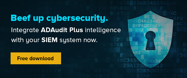 Integrate ADAudit Plus with your SIEM system now.