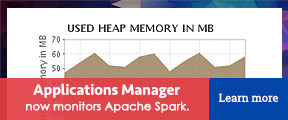 Applications Manager now monitors Apache Spark.