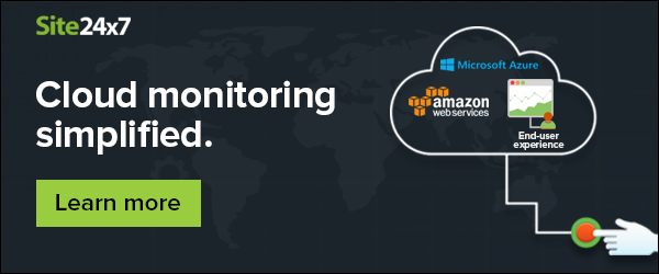 Monitor your hybrid cloud infrastructure with Site24x7.