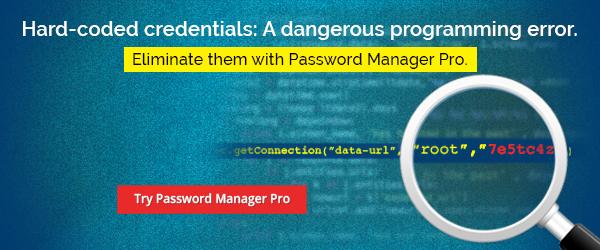 Eliminate hard-coded credentials