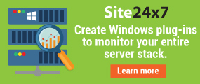 Create windows plugins to monitor your entire server stack