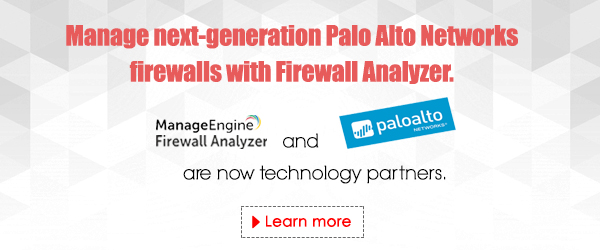 Firewall Analyzer is now one of Palo Alto Network's technology partners. Learn more.