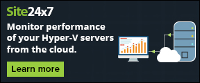 Monitor performance of your Hyper-V servers from the cloud. Learn more.