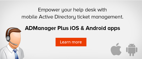 Mobile Active Directory ticket management for help desk technicians.