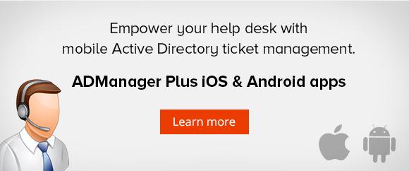 Mobile Active Directory ticket management for help desk technicians.