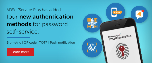 Introducing four new authentication methods for password self-service